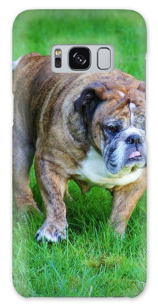 The Bulldog Shuffle Galaxy Case by Jeanette C Landstrom