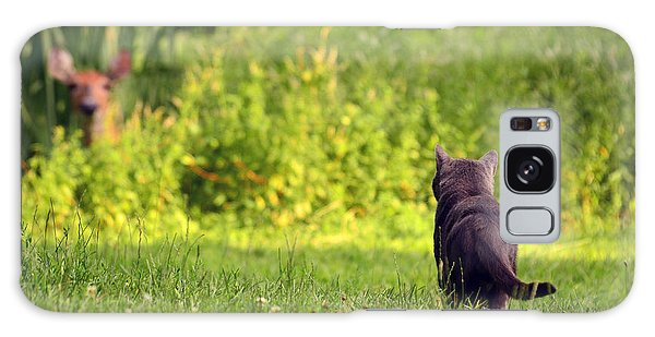 The Deer Hunter Galaxy Case by Lori Tambakis