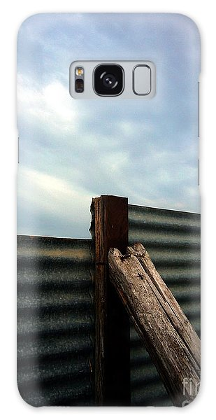 The Fence The Sky And The Beach Galaxy Case by Andy Prendy