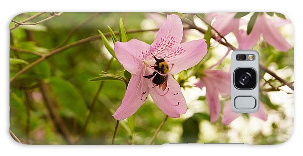 The Flower And The Bumble Bee Galaxy Case by J Jaiam