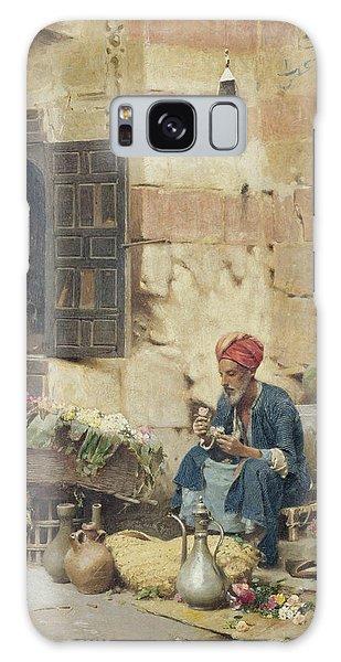Turban Galaxy Case - The Flower Seller by Raphael von Ambros