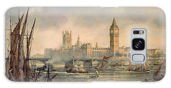 Houses Of Parliament Galaxy Case - The Houses Of Parliament And Westminster Bridge by Richard Willis