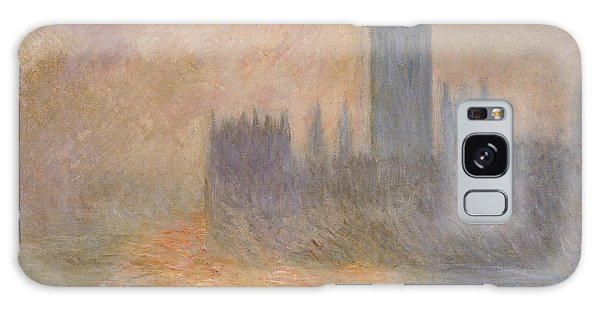 Houses Of Parliament Galaxy Case - The Houses Of Parliament At Sunset by Claude Monet