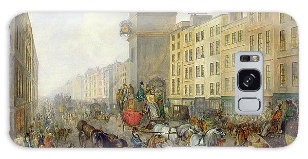 Clock Galaxy Case - The London Bridge Coach At Cheapside by William de Long Turner