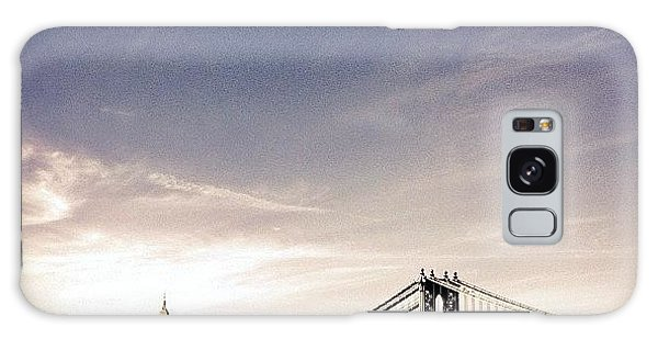 The Manhattan Bridge And New York City Skyline Galaxy Case by Vivienne Gucwa