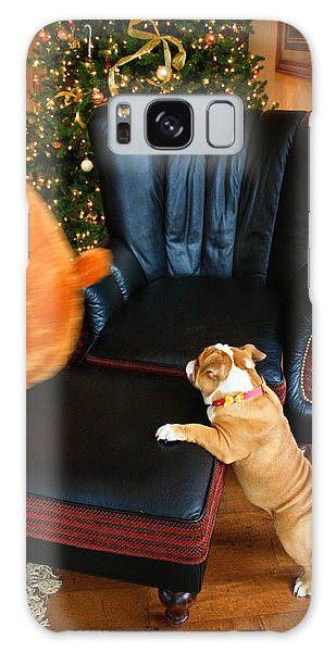 The Puppy Chase Galaxy Case by Ann Murphy