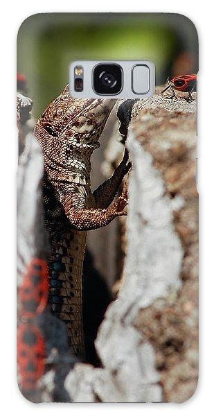 Galaxy Case featuring the photograph the random Lizard  by Stwayne Keubrick