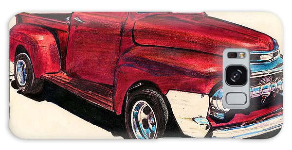 The Red Truck Galaxy Case by Cheryl Poland