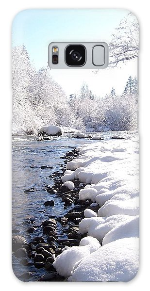 The River In Winter Galaxy Case by Peter Mooyman