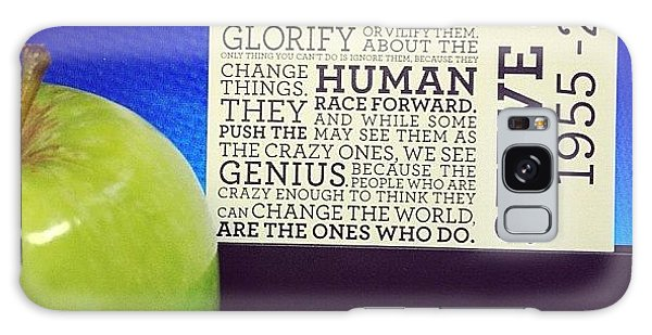 Motivational Galaxy Case - The Steve Jobs Apple. It Was Given By by Vincy S
