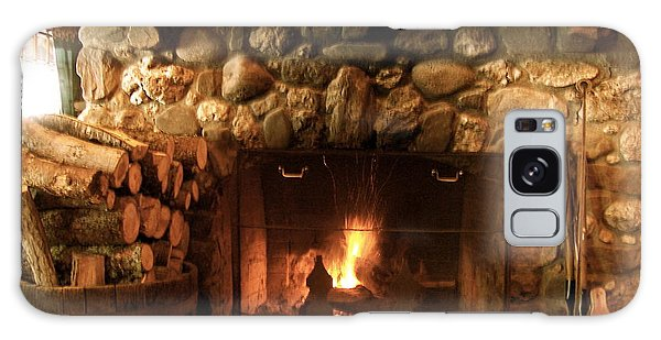 Stone Fireplace Galaxy Case by Robin Regan