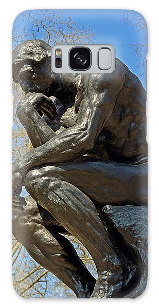 The Thinker By Rodin Galaxy Case by Lisa Phillips