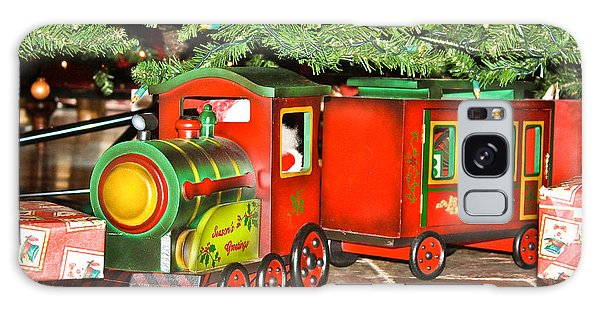 Galaxy Case featuring the photograph The Toy Train by Ann Murphy
