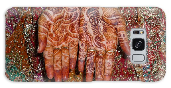 The Wonderfully Decorated Hands And Clothes Of An Indian Bride Galaxy Case