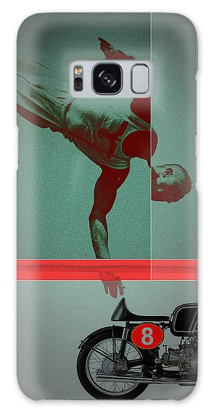 Sportsman Galaxy Case - They Crossed That Line by Naxart Studio