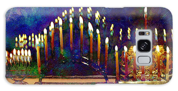 Three Menorahs Galaxy Case
