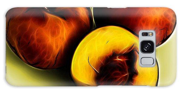 Three Peaches - Yellow Galaxy Case