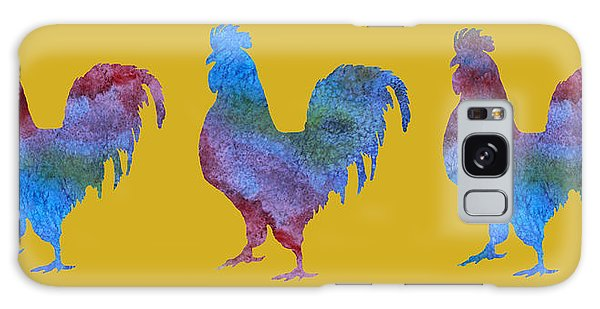 Three Roosters Galaxy Case