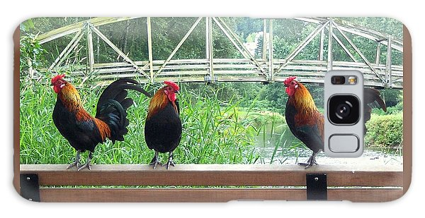 Three Roosters  Galaxy Case by Peter Mooyman