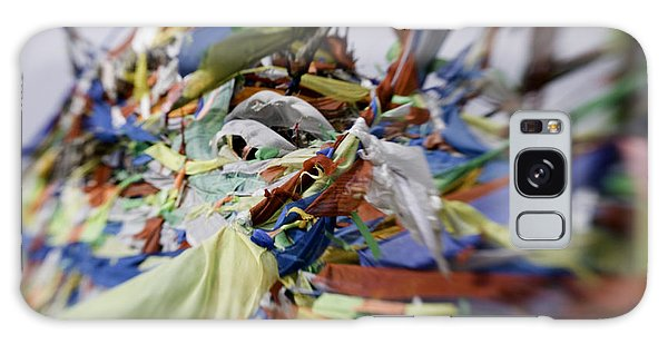 People's Republic Of China Galaxy Case - Tibetan Prayer Flags At The Temple by David Evans