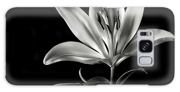 Tiger Lily In Black And White Galaxy Case
