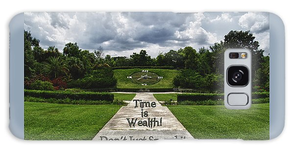 Time Is Wealth Galaxy Case by Barbara Middleton