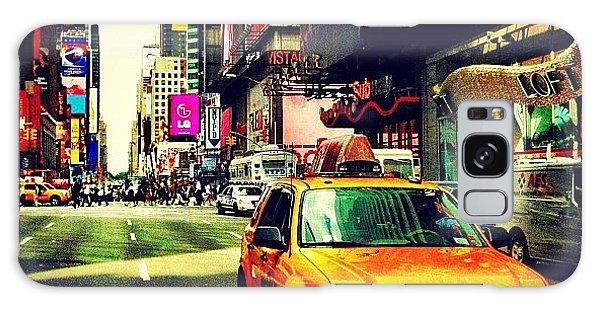 City Galaxy Case - Times Square Taxi by Luke Kingma