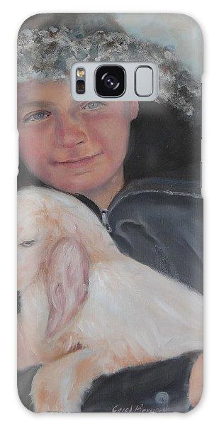 Tony With A Baby Goat Galaxy Case by Carol Berning