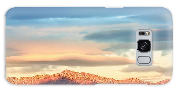Tooele County Mountains At Sunrise Galaxy Case by Tracie Kaska
