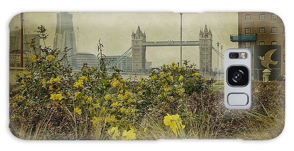 Tower Bridge In Springtime. Galaxy Case by Clare Bambers