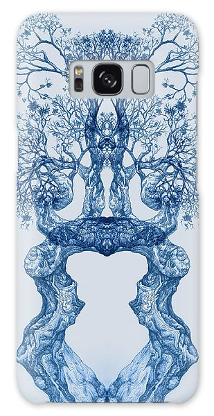 Tree 14 Blue 2 Galaxy Case