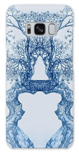Tree 14 Blue 8 Galaxy Case