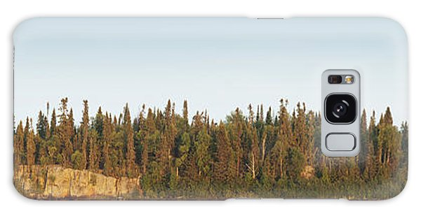 Trees Covering An Island On Lake Galaxy Case by Susan Dykstra