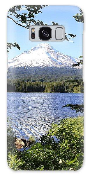 Trillium Lake At Mt. Hood Galaxy Case by Athena Mckinzie