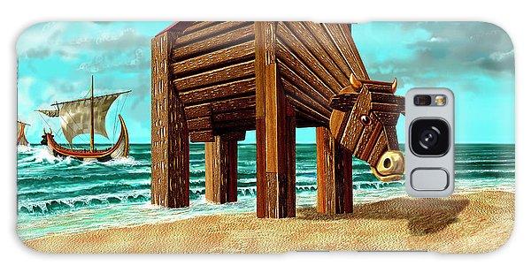 Trojan Cow Galaxy Case