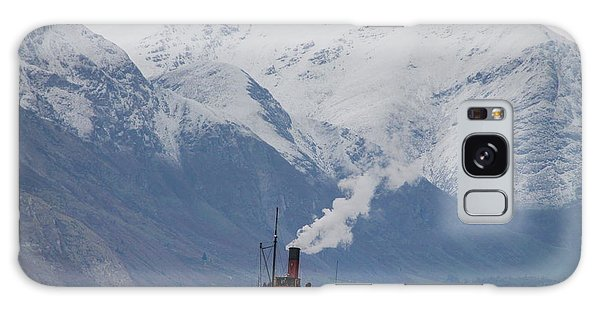 Tss Earnslaw Steamboat Against The Southern Alps Galaxy Case by Laurel Talabere