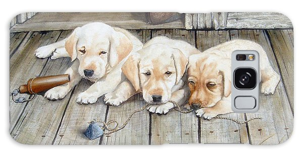 Tuckered Out Trio  Sold  Prints Available Galaxy Case