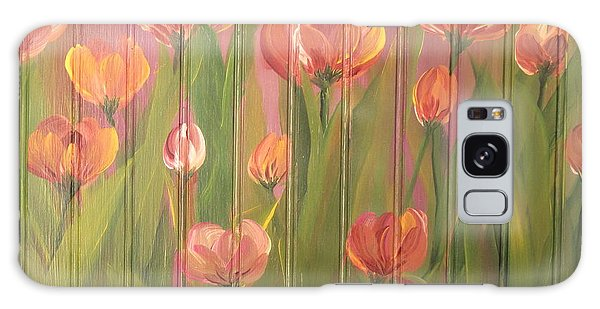 Tulip Field Galaxy Case by Kathy Sheeran