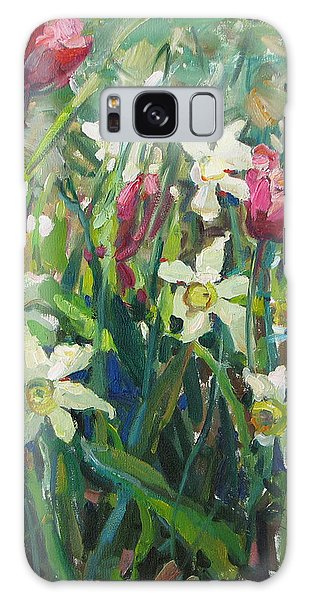 Tulips And Narcissuses Galaxy Case