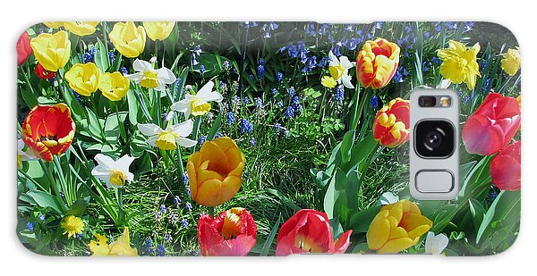 Tulips Dancing Galaxy Case by Rory Sagner
