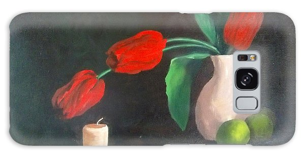 Tulips Limes And Candle Galaxy Case