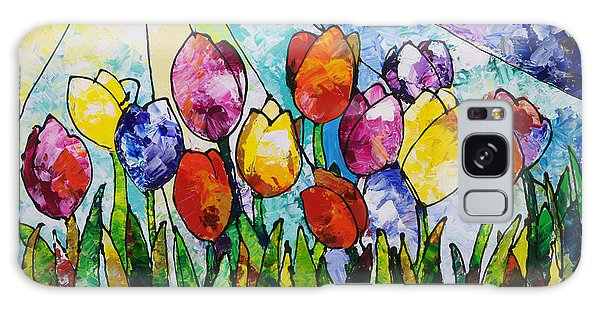 Tulips On Parade Galaxy Case
