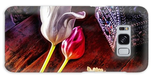 Florals Galaxy Case - Tulips With Jeweled Chest by Paul Cutright