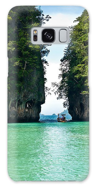 Phi Phi Island Galaxy Case - Turquoise Lagoon In Thailand by U Schade