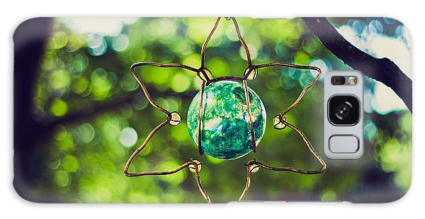 Turquoise Light Galaxy Case by Sara Frank