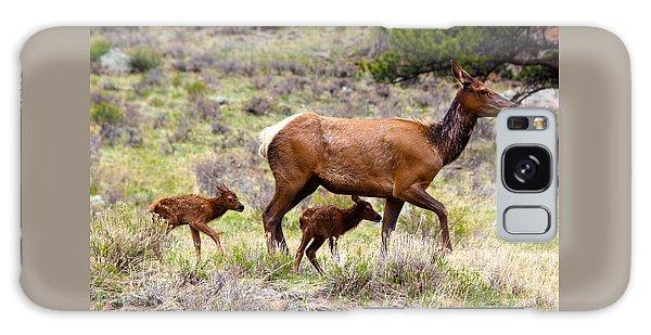 Twin Elk Calves Galaxy Case
