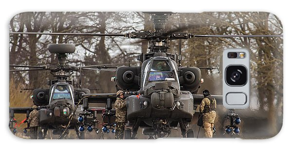 Two Ah64 Apaches Galaxy Case by Ken Brannen
