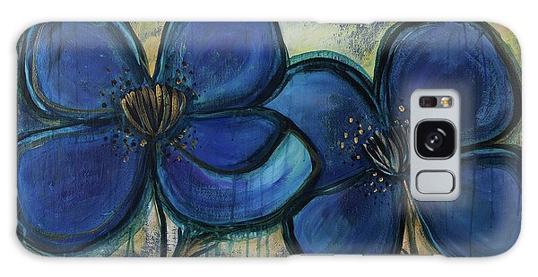 Two Blue Poppies Galaxy Case