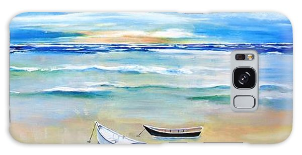Two Boats Ashore  Galaxy Case