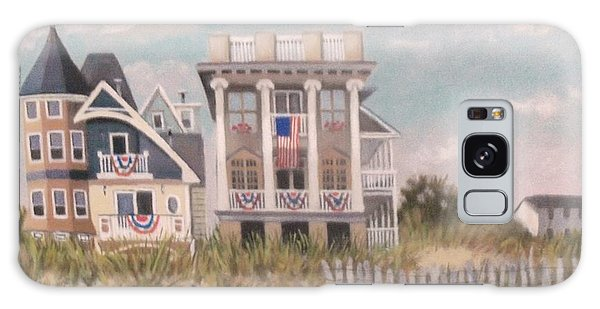 Two Different Houses On The Beach Galaxy Case